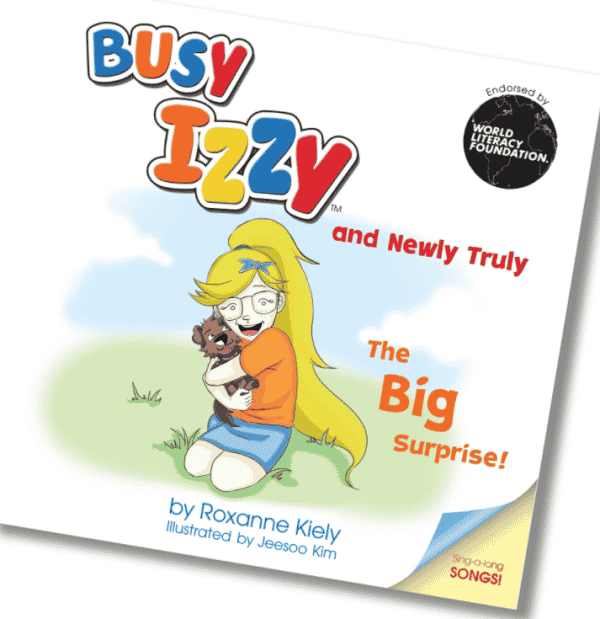 Busy Izzy and Newly Truly by Roxanne Kiely book cover